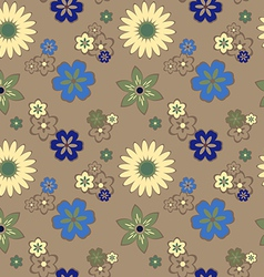 seamless pattern with daisies vector image vector image