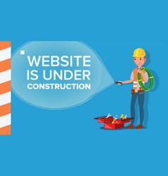 website under construction error website vector image