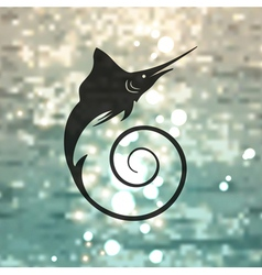 Marlin fish logo vector image vector image