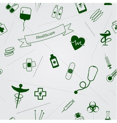 Medical icons seamless background vector image