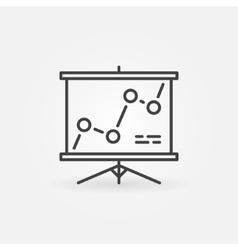 Presentation board linear icon vector image vector image