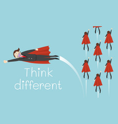 super businessman different think vector image