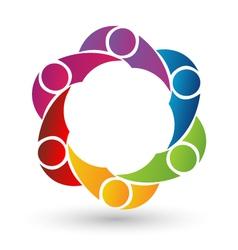 Teamwork People business logo vector image vector image