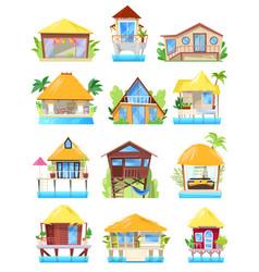 villa tropical resort hotel on ocean beach vector image