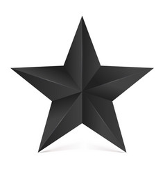 volumetric five-pointed star with shadow icon of vector image vector image