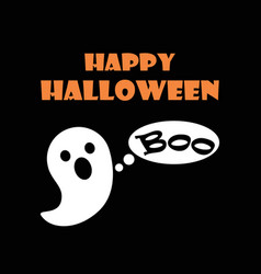 happy halloween scary ghost vector image vector image