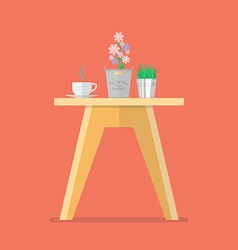 Side table in flat style vector image vector image