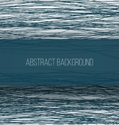 Abstract blue chaotic sketch lines background and vector image vector image