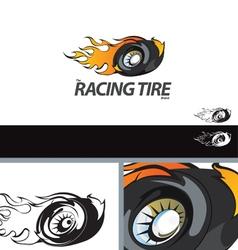 Auto Tire Swoosh Abstract Symbol Branding Design E vector image vector image
