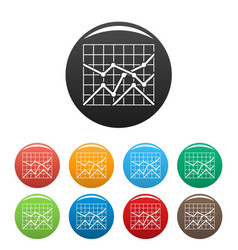 best chart icons set collection circle vector image vector image