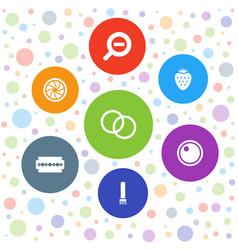 7 macro icons vector
