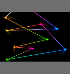 abstract colorful neon laser lines background vector image