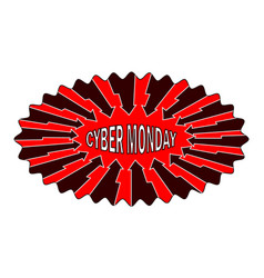 Abstract - cyber monday - sticker vector