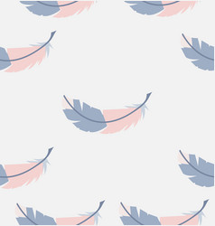 abstract seamless feathers pattern vector image