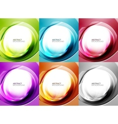 Abstract swirl backgrounds vector image