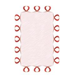 Abstract wavy ribbon vector