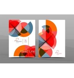 Annual report cover geometric design vector