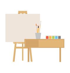 art studio interior creative workshop room vector image