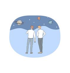 Astronomy and planetarium concept vector