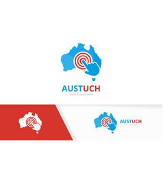 australia and click logo combination vector image