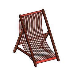 beach sunchair isolated vector image