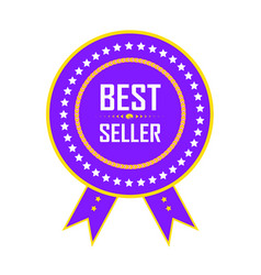 best seller label best seller badge best seller vector image