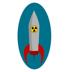 big nuclear rocket on white background vector image