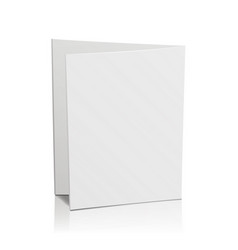 Blank folder white leaflet 3d mockup bend vector