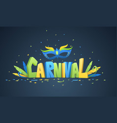 Brazilian carnival background vector