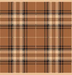 brown and black tartan plaid scottish pattern vector image