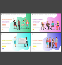 business training listeners and presentation vector image