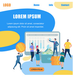 Busniessman coaching people business strategy vector
