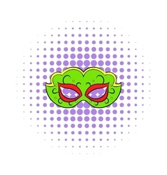 Carnival mask icon comics style vector image