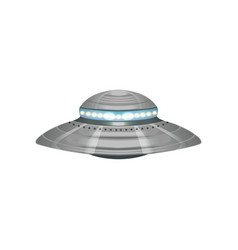 Cartoon alien flying saucer extraterrestrial vector