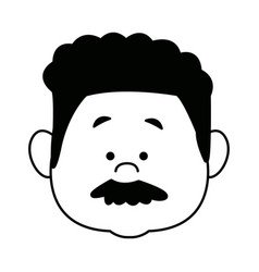 cartoon face man person avatar male profile vector image