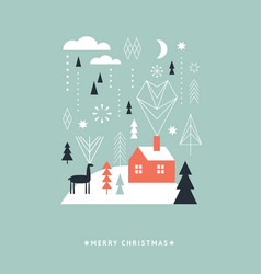 christmas and new years card vector image