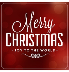 christmas typographic background merry vector image