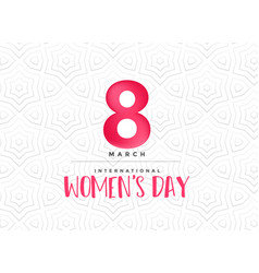 Clean happy womens day celebration background vector