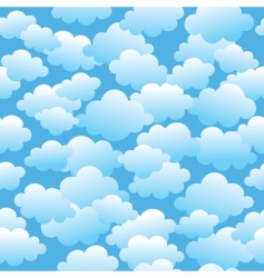 cloudy seamless pattern vector image