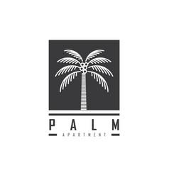 coconut tree logo design vector image