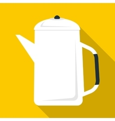 Coffee pot icon flat style vector