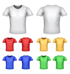 Colorful male t-shirts set vector