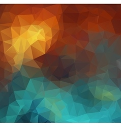 colorful mosaic composition with triangle shapes vector image