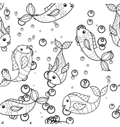 Coloring antistress with fish vector