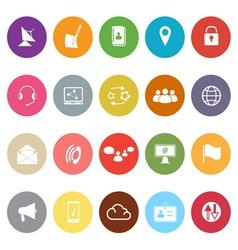 Communication flat icons on white background vector image