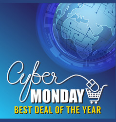 cyber monday sale banner background vector image