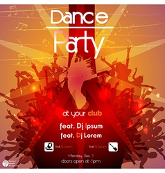 Dance party vector image
