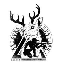 Deer hunter logo vector