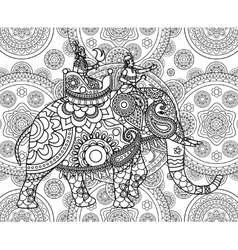Doodle Indian maharajah vector