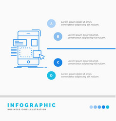 drag mobile design ui ux infographics template vector image
